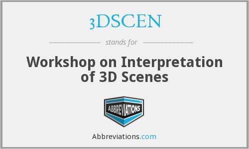 3DSCEN - Workshop on Interpretation of 3D Scenes