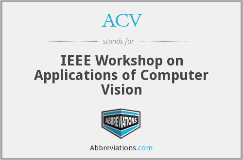 ACV - IEEE Workshop on Applications of Computer Vision