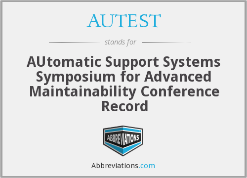 What does AUTEST stand for?