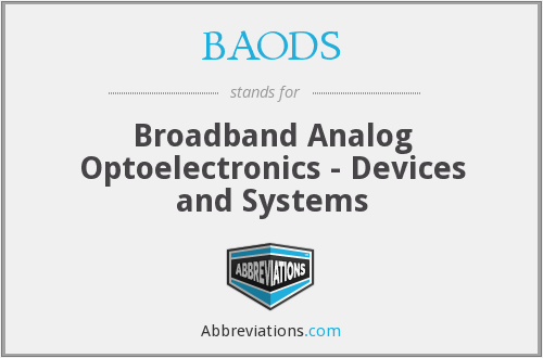 BAODS - Broadband Analog Optoelectronics - Devices and Systems