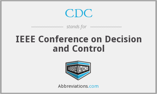 CDC - IEEE Conference on Decision and Control