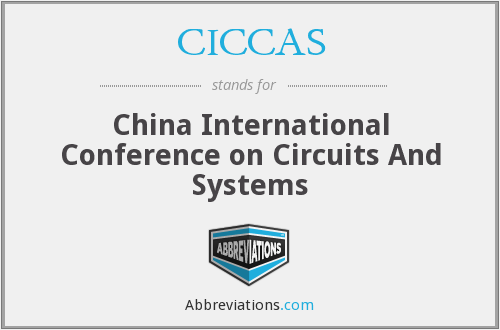 CICCAS - China International Conference on Circuits And Systems