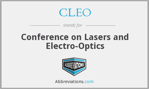 CLEO - Conference on Lasers and Electro-Optics