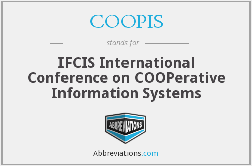 COOPIS - IFCIS International Conference on COOPerative Information Systems