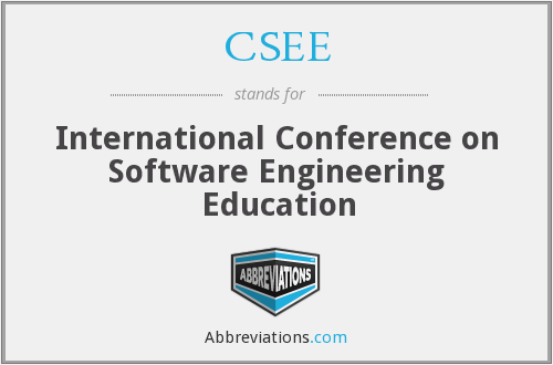 CSEE - International Conference on Software Engineering Education