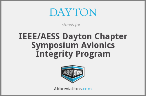 DAYTON - IEEE/AESS Dayton Chapter Symposium Avionics Integrity Program
