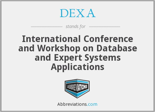 DEXA - International Conference and Workshop on Database and Expert Systems Applications
