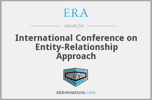 ERA - International Conference on Entity-Relationship Approach