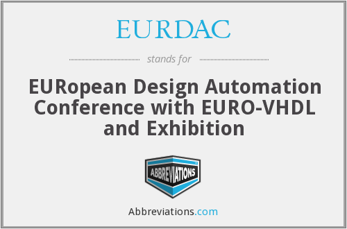 EURDAC - European Design Automation Conference with EURO-VHDL and Exhibition