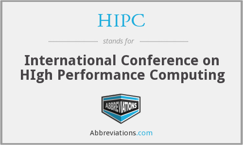 HIPC - International Conference on HIgh Performance Computing