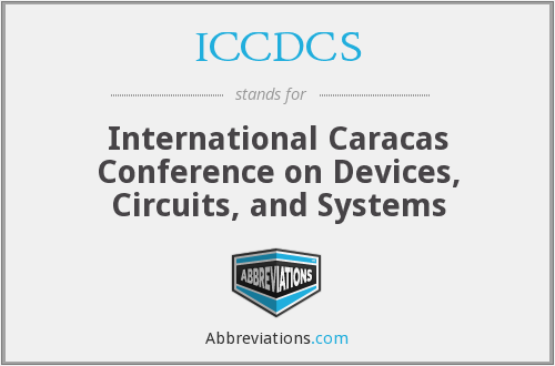 What does ICCDCS stand for?