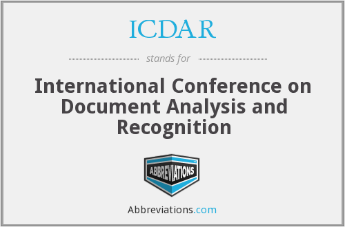 What does ICDAR stand for?