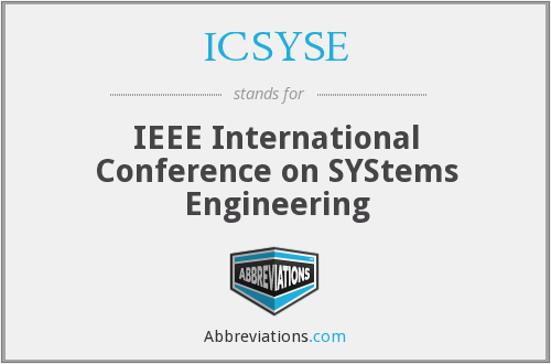 What does ICSYSE stand for?