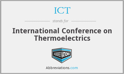 ICT - International Conference on Thermoelectrics