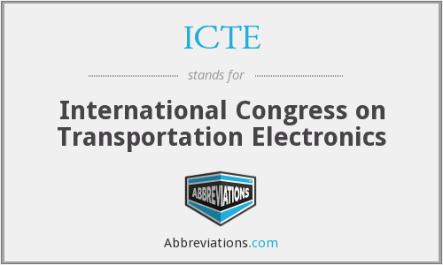 ICTE - International Congress on Transportation Electronics