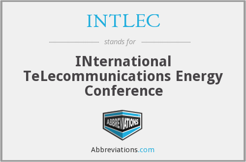 What does INTLEC stand for?
