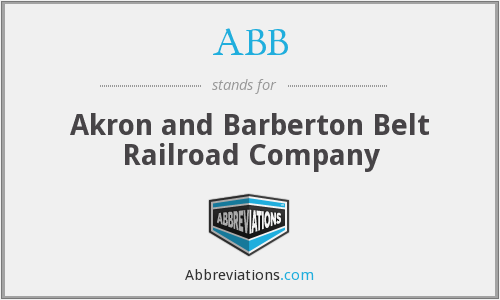 ABB - Akron and Barberton Belt Railroad Company