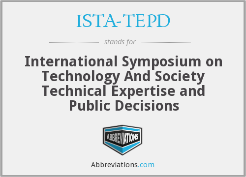 What does ISTA-TEPD stand for?