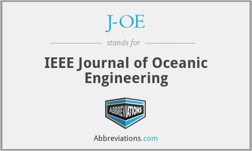J-OE - IEEE Journal of Oceanic Engineering