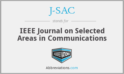 J-SAC - IEEE Journal on Selected Areas in Communications