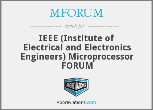 What does MFORUM stand for?