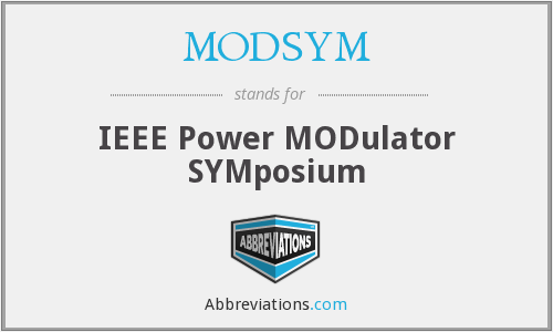 What does MODSYM stand for?