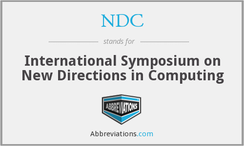 NDC - International Symposium on New Directions in Computing