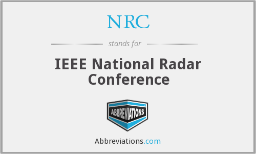 NRC - IEEE National Radar Conference