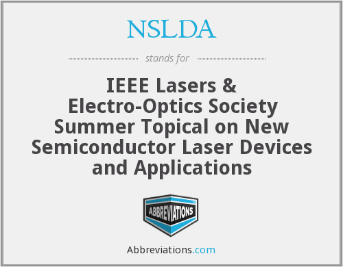 What does NSLDA stand for?