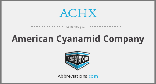 What does ACHX stand for?