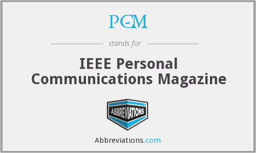 PC-M - IEEE Personal Communications Magazine
