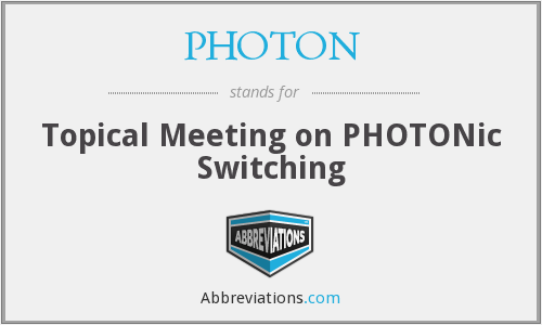 What does PHOTON stand for?