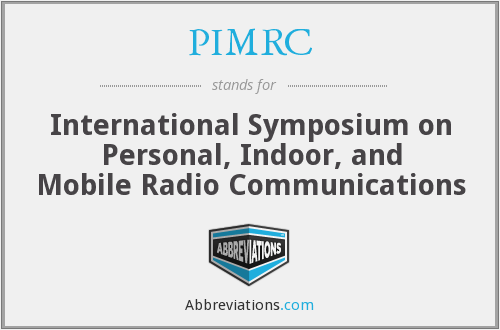 PIMRC - International Symposium on Personal, Indoor, and Mobile Radio Communications