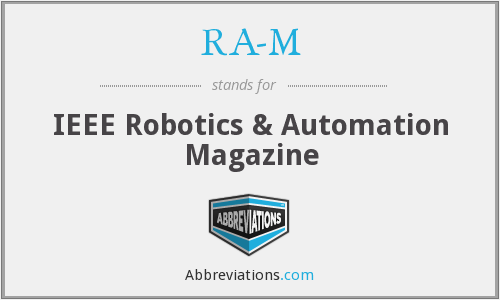 RA-M - IEEE Robotics & Automation Magazine