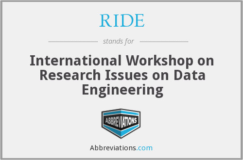 RIDE - International Workshop on Research Issues on Data Engineering