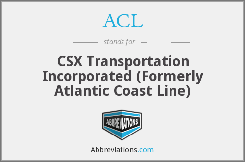 ACL - CSX Transportation Incorporated (Formerly Atlantic Coast Line)