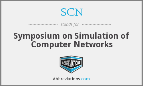 SCN - Symposium on Simulation of Computer Networks