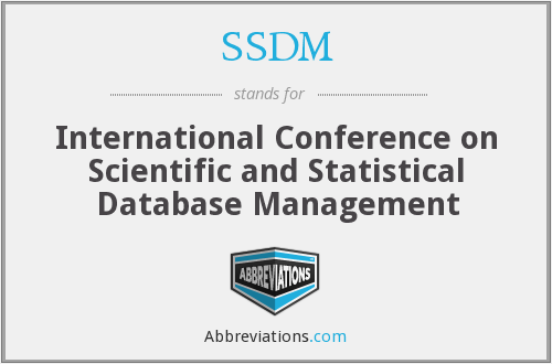 SSDM - International Conference on Scientific and Statistical Database Management