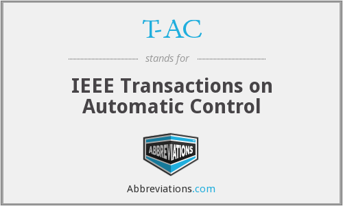 T-AC - IEEE Transactions on Automatic Control