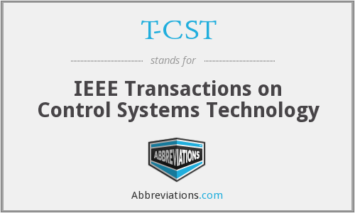 T-CST - IEEE Transactions on Control Systems Technology