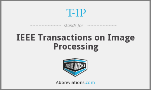 T-IP - IEEE Transactions on Image Processing