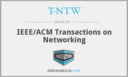 T-NTW - IEEE/ACM Transactions on Networking