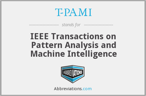 T-PAMI - IEEE Transactions on Pattern Analysis and Machine Intelligence