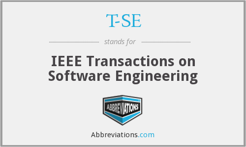 T-SE - IEEE Transactions on Software Engineering