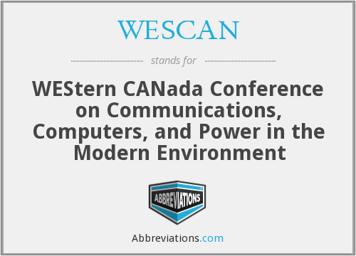 What does WESCAN stand for?
