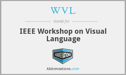 WVL - IEEE Workshop on Visual Language