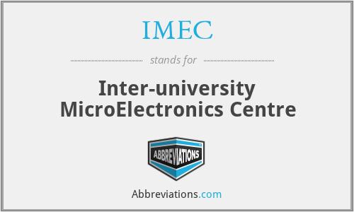 IMEC - Inter-university MicroElectronics Centre