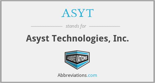 ASYT - Asyst Technologies, Inc.