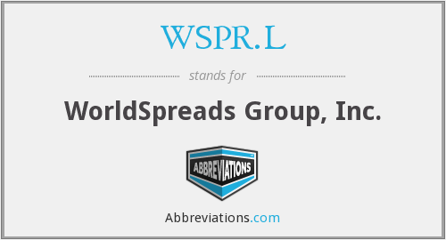 What does WSPR.L stand for?