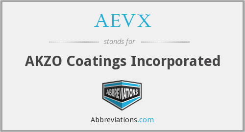AEVX - AKZO Coatings Incorporated